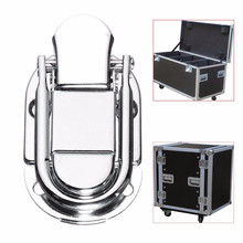 Luggage Guitar Musical Trolley Flight Case Button Knot Drawbolt Closure Latch For Gift Boxes Wooden Boxes Air Boxes Iron Silver