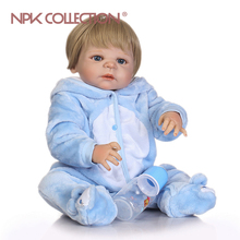 NPKCOLLECTION Promotion lifelike reborn baby doll soft real gentle touch baby full vinyl doll for children Birthday Gift(China)