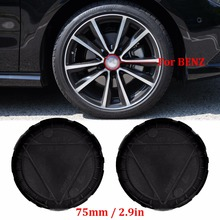 4PCS Car Styling 75mm Car Rim Wheel Center Hub Cap Cover For Mercedes Benz W211 W203 W204 W124 W210 W220 W201 AMG Accessories(China)