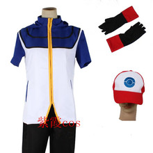 Pokemon Ash Ketchum Cosplay Costume Any Size