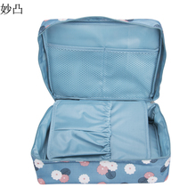 Women Travel Cosmetic Bag Organizer Blue Pink Rose Red Makeup Case Pouch Toiletry Make Up Tote Bag