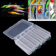 27cm*18cm*4.7cm  New  10  14 Compartments Double Sided Fishing Lure Bait Hooks Tackle Waterproof Storage Box Case