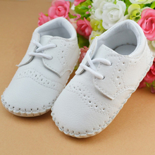 Kid Baby Boys Girls Toddler Faux Leather Soft Sole Crib Prewalker Shoes Sneakers(China)