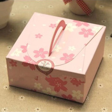 12x12x5.5cm Flower Snak Party Box, Small Kraft Gift Paper Box Cookies Cake Candy Box
