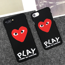 luxury brand CDG Play Comme des Garcons Hard Matte Protect Cases For iphone 5S SE 6s 6 7 Plus 8 8plus  Phone Cover coque case