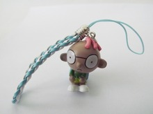 Free shipping New 1 pcs Lovely Little Boy figure mobile phone strap Charms