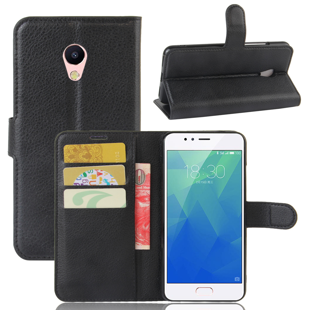 Meizu M5S Case Flip Card Slots Bags Lichee Pattern Stand Phone Cover PU Leather Case High 9 Colors Wallet