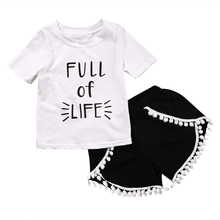 Hi Hi Baby Store 2pcs Baby Girls Kids Clothes T-shirtShorts Set Casual Summer Clothing Cotton Outfits