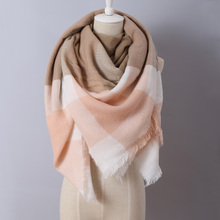 2016 Brand New Design Fashion Blankets scarf Soft Acrylic Winter Scarves warm Oversized Square Plaid scarf Shawl for women
