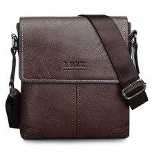 Vertical Cover PU Leather Bags Men's Single Shoulder Slant Bag Vintage Fashion Business Messenger Bag Men Briefcase Handbag