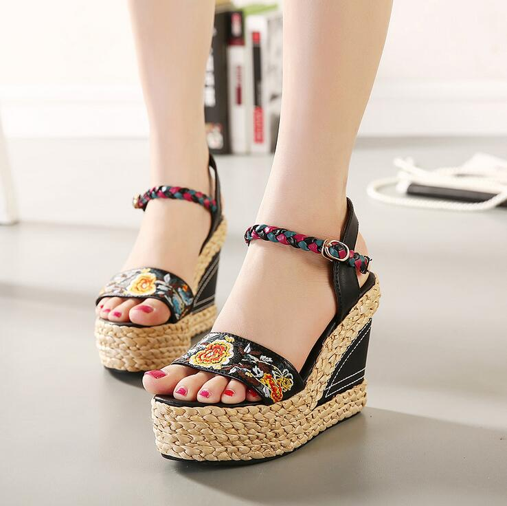 Toe Head Sandals PUMPS womens Summer Shoes Open Toe Sandals Female Wedges Platform High Heels Female Sandals<br><br>Aliexpress
