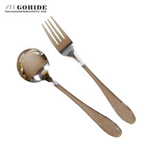 2pcs/Set Stainless Steel Portable Cutlery Twinset Fork Cutlery Scoop and Fork Utensils Western-Style Dinnerware Kitchen