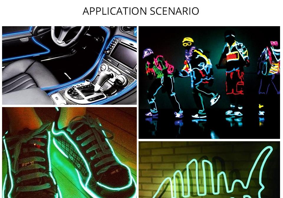 1m 2m 3m 4m 5m Neon Light EL Wire  (12)