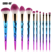 MAANGE Professional Diamond Rainbow Handle Makeup Brushes Set Foundation Face Powder Eye Shadow Lip Beauty Cosmetic Makeup Tools(China)