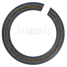 NEW Nice Quality Acoustic Guitar Soundhole Rosette Inlay Basswood Wood Rosette Body Project