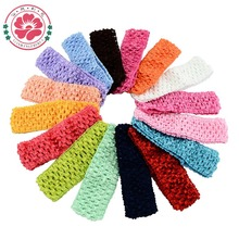 Hot Sale 18pcs/lot Hi-Quality Newborn Infant baby girl Top TuTu crochet headband Bow children hair accessories 597
