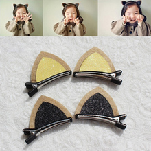 New Designed Fashion Girls Hairpins Handmade Cute Wool Felt Cat Ears Hair Clips Girls Barrettes Children Kids Hair Accessories
