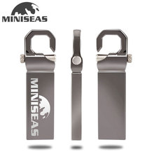 Miniseas Usb Flash Drive 2017 New Metal Key Ring 8G/16G/32G/64G Usb 2.0 Memory USB Stick Pen Drive Pendrive For PC
