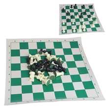 International 32 Pieces Chess Game Set Plastic With Chessboard Chessmen Kid Gift