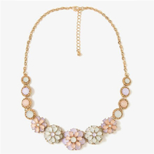 H:HYDE Early summer small pure and fresh, the moonlight the cat's eye gem flower necklace Collarbone chain jewelry