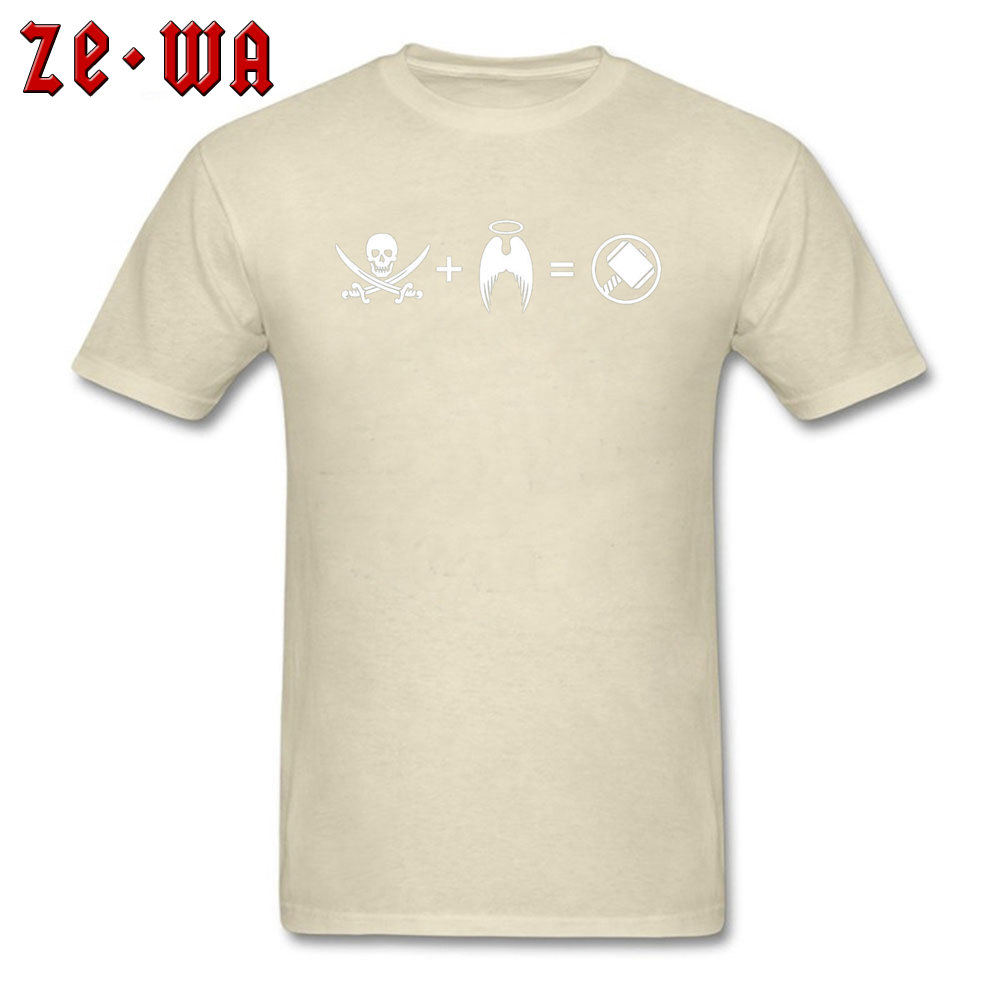 Men T-shirts Custom Classic T Shirt 100% Cotton Crew Neck Short Sleeve Casual Sweatshirts Summer Free Shipping Its Like A Pirate Had A Baby With An Angel beige