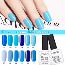 MDSKL 12 Colors Ocean Series UV Gel Nail Polish Long-Lasting Soak-off LED UV Gel Art Nail UV Gel polish