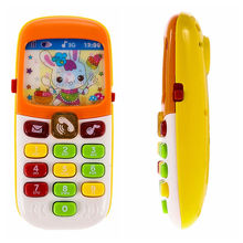 Electronic Mobile Phone with Sound Smart Phone Toy Children Kids Infant Toys Cellphone Early Education Toy Random Colors(China)