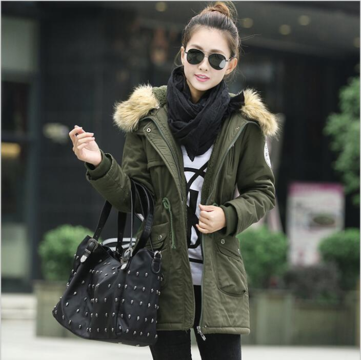 new 2017 women winter coat wadded jacket medium-long plus size 4XL Parka fur collar thickening hood abrigos female snow wearОдежда и ак�е��уары<br><br><br>Aliexpress