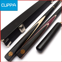 High Quality Cuppa 3/4 Snooker Cues Stick Billiard 9.8mm/11.5mm Tip With Snooker Cue Case Set Ebony Handle China 2016