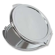 Thin Blank Metal Compact Mirror Cases Round Metal Makeup Mirrors Silver Color #M0832 60x/lot(China)