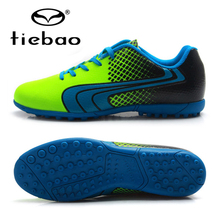 TIEBAO Brand Professional Soccer Shoes Adult Outdoor Sports TF Turf Sole Sneakers Men Teenagers Athletic Training Football Boots(China)