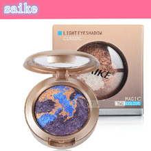 SAIKE Brand 3 Colors Smoky Mineral Eyeshadow Palette Set Makeup Baked Eye Shadow Powder Pallete Make up Pigment Beauty(China)