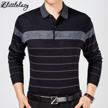 2017 casual long sleeve business mens shirts male striped fashion brand polo shirt designer men tenis polos camisa social 5158(China)