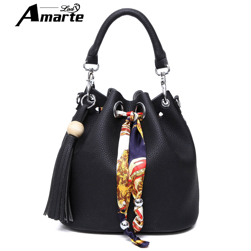 Amrate Brand Bucket Bag Women Pu Leather String Shoulder bag Luxury Bags Famous Designer Woman Crossbody Bags Casual Handbag<br><br>Aliexpress