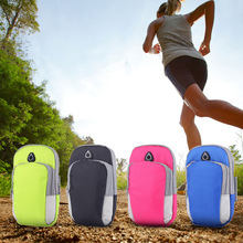 Hot sales 5.5inch Running GYM Protective Phone Bag Sports Arm Bag , Outdoor Waterproof Hand Bag For Camping(China)