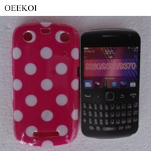 OEEKOI Polka Dots Style Back Skin Cover Case for Blackberry 9350 9360 9370 Soft Phone Case Free(China)