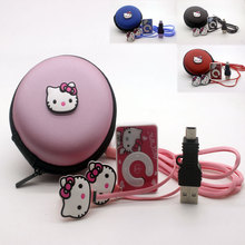Fashion Mini Hello Kitty Clip MP3 Music Player With Hello Kitty Earphone  Mini USB  Hello kitty bag