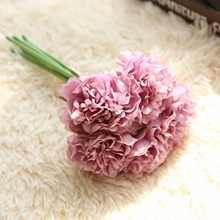 1 Bunsh Silk Artificial Flower Purple Peony Wedding Festival Celebrations Public places Garden Party Home Office Decor 26cm(China)