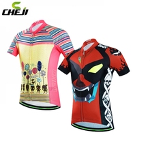 CHEJI 2017 Pro Team Kids Cycling Jersey Tops Ropa Ciclismo Cycling Kit Breathable Quick Dry Children Bicycle Clothing S-XXL