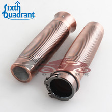 "Motorcycle RC Grip 1"" Copper anodized Rough Crafts 25mm Handlebar Grips for Harley Sportster 883 XL 1200 Softail Dyna Touing"