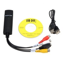 USB 2.0 Easycap Audio Video DVD VHS Record Capture Card Converter PC Adapter New Arrival