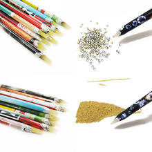 New 2pcs Nail Art Wax Pen Nail Rhinestone Picker Pencil Gem Crystal Pick Up Tool For Beauty Nail Art Tools