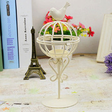 Fashion Design Birdcage Shape Candle Holder Candlestick Lantern Iron Candle Holders Wedding Dinner Table Ornaments VBT10 T10 0.5