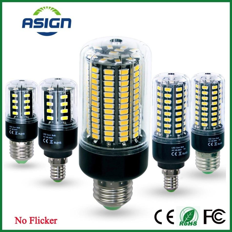E27 E14 5736SMD High Lumen LED Corn Lamp Bulb 3.5W-15W No Flicker Constant Current 28-156LEDs Bulbs CE ROHS Light Lamparas<br><br>Aliexpress