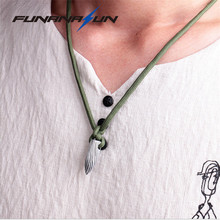 War Wolf 2 Metal Bullet Necklace Paracord Pendant Movie Necklaces For Hunting Men Women Black Silver