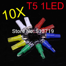 10X Auto T5 LED 509T W3W W1.2W W2.3W Dashboard Warning Light Indicator Wedge Light Instrument Panel Bulb Interior Lamp Xenon Car