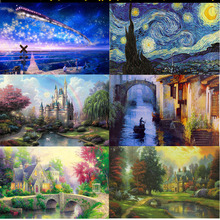 Free Shipping 2017 Hot Sales 1000 pieces puzzles Landscape puzzle People Adult And Children puzzles Educational Toys J017