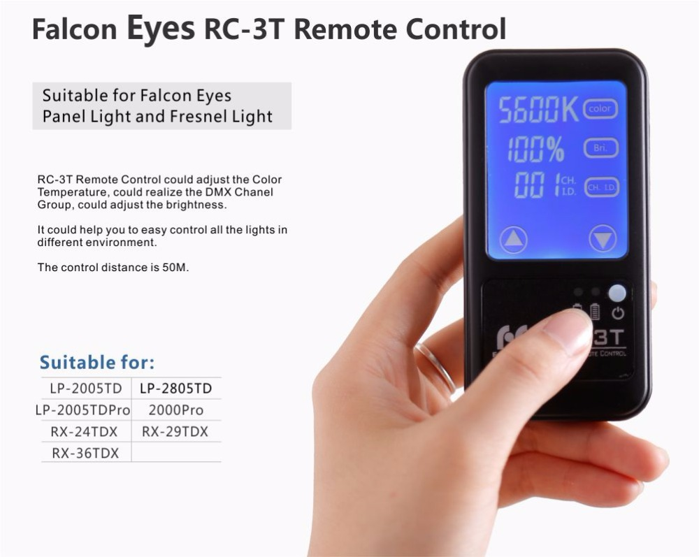 Remote Control RC-3T for Falconeyes Roll-flex LED Light
