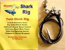 2 X Premium Quality Custom Design Shark Rig 2X10/0 S/S Hook 300lb Wire Trace For Fishing Special Offer with Free Postage!!
