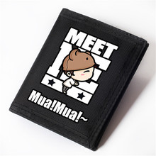 Cute Cartoon Lover Wallets for Boys and Girls Oxford Carteira Short Velcro Wallets